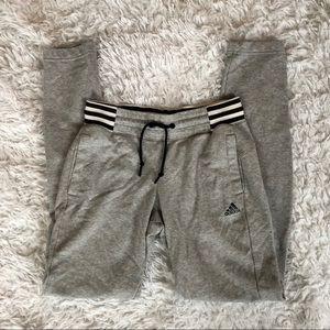 Adidas Gray Athletic/Sweat Pants, SZ XS